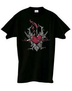 Heart of Nails Goth Tribal T Shirt S 6x  Choose Color