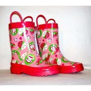 Toddler Girls Pink Rain Boots Size Medium (L 11/12): Everything Else