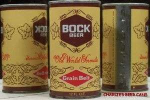 GRAIN BELT S/S BOCK BEER  narrow brown bands // 430bo