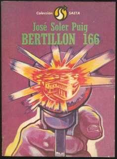 JOSE SOLER PUIG Bertillón 166 LETRAS CUBANAS 1982 CUBA
