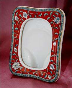 Hand Decorated Porcelain Frame   1986 Etude   Takahashi San Francisco