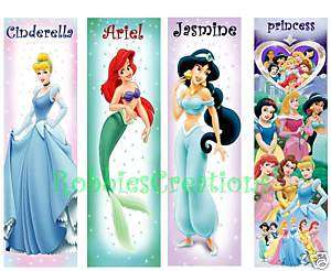 BOOKMARK PRINCESS Cinderella Ariel Jasmine DISNEY dvd