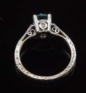 STUNNING ESTATE PLATINUM TACORI DIAMOND ENGAGEMENT RING
