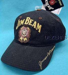 JIM BEAM JAMES B SIGNATURE BOURBON WHISKEY BLACK BALL CAP HAT