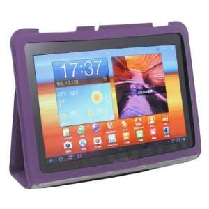 For Samsung Galaxy Tab 8.9 P7300 P7310 Purple Leather Case