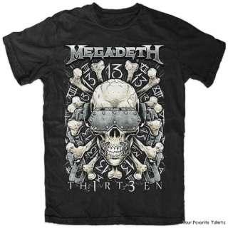Licensed Megadeth Red Bones Adult Shirt S XXL