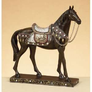 Beautiful Wooden Ancient Chinese Tang Horse Statue  Home