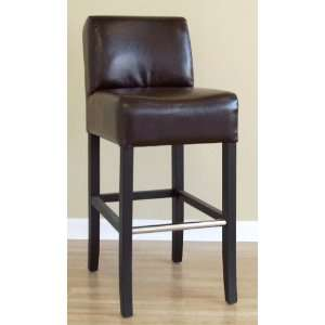 Wholesale Interiors Dark Brown Full Leather Bar Stool