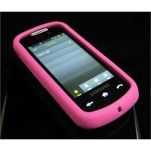 HOT PINK FULL VIEW Soft Rubber Silicone Skin Cover Case for Samsung
