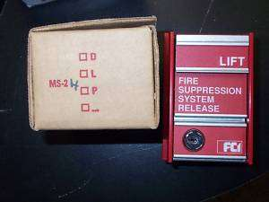 NEW FCI MS 2H RED FIRE SUPPRESSION ALARM PULL STATION