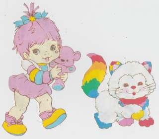 RAINBOW BRITE BABY BRITE KITTY BRITE WALL STICKERS BORDER CUT OUTS