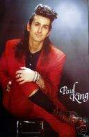 PAUL KING BRITISH ROCK RARE MINT LARGE 1986 POSTER