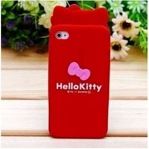 iPhone 4G Cute Hello Kitty Style Head Shape Series Style Soft Case
