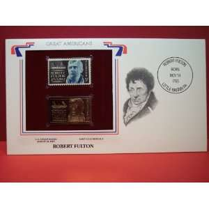 1965 5 Cent Stamp and 22kt Gold Replica Cover Robert