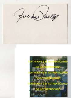 JULIANNE PHILLIPS SIGNED AUTOGRAPHED INDEX CARD WPROOF SISTERS BRUCE