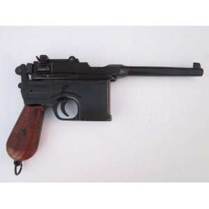 1896 Mauser C96 Broomhandle Non firing Replica Gun  Wood