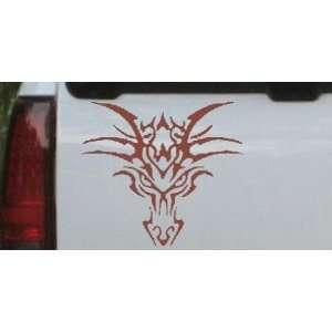 Brown 12in X 10.9in    Tribal Dragon Car Window Wall Laptop Decal