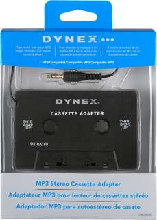 Dynex Car Stereo Cassette Adapter Apple iPod  Player DX CA103 w/3