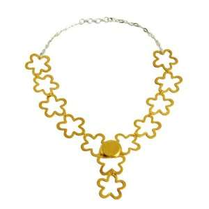 Sterling silver gold plated chain type necklace handmade