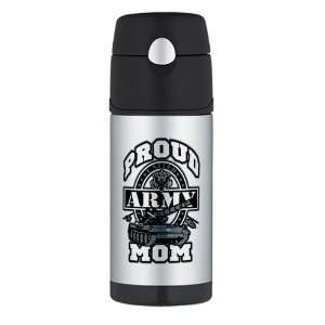 Thermos Travel Water Bottle Proud Army Mom Tank