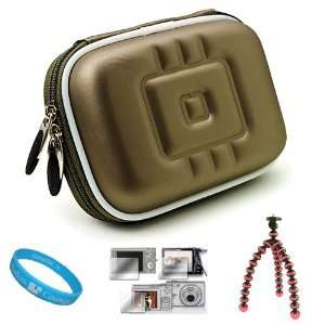 Gun Metal Grey Durable Compact Digital Camera Carrying Case with Dual