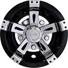 GOLF CART HUB CAPS 8 VEGAS BLACK & CHROME ON SALE