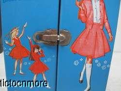 VINTAGE BARBIE SKIPPER BRUNETTE DOLL +CASE & CLOTHES LAND & SEA FLOWER