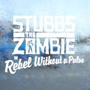 Stubbs The Zombie White Decal Car Window Laptop White