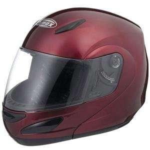 GMAX GM44S SPC Modular Flip Motorcycle Helmet   Red Wine