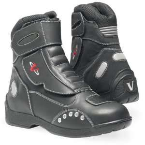 Vega 7 Matrix Black Vented Leather Street Motorcycle Boot