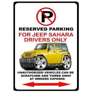 Jeep Wrangler 4x4 SUV Car toon No Parking Sign