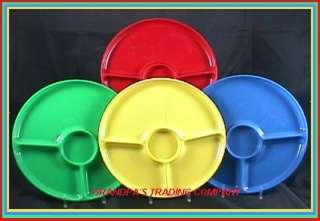 STERILITE Plastic 9 3 Part Picnic Plates  Colors