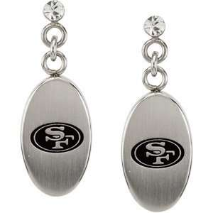 Stainless Steel San Francisco 49ers Logo Dangle Earrings