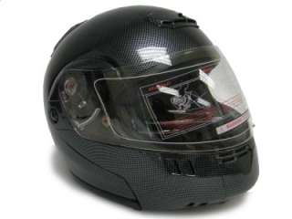 FLIP UP MODULAR MOTORCYCLE SPORT HELMET CARBON FIBER~XL