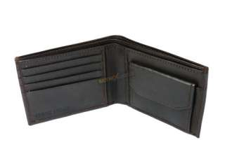 Mens soft Leather Wallet 4 Credit card slots press stud coin pocket