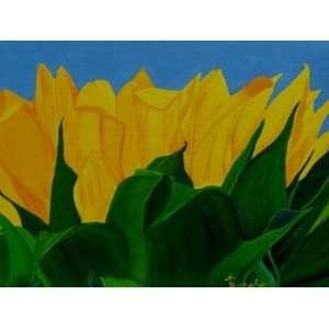 The Rising Sun (Flower), Original Painting, Home Decor