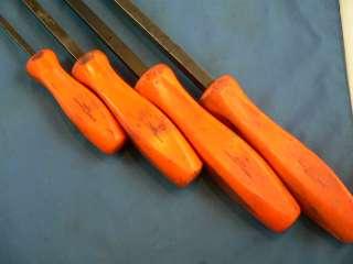 Snap on Tools 4 pc ORANGE Handle Striking Pry Bar Set SPBS704