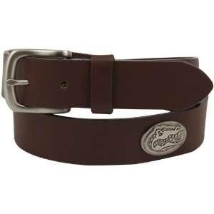 Florida Gators Brown Leather Concho Belt