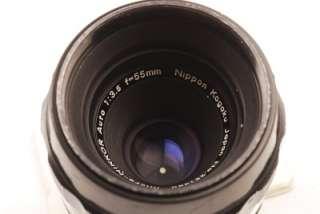 Nikon Micro Nikkor 55mm f/3.5 AIed Lens Excellent++ Cond