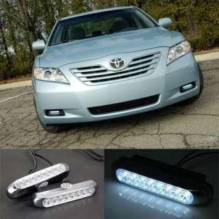 2PCS Bright White LED Car Front Day Driving Lights 12V