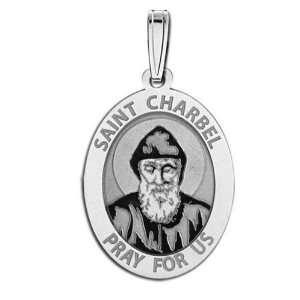 Saint Charbel Oval Medal Jewelry