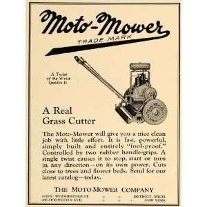 1926 Ad Moto Mower Lawn Cutter Antique Garden Tool