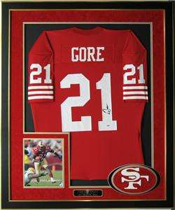 Frank Gore Autographed San Francisco 49ers Jersey Framed   COA