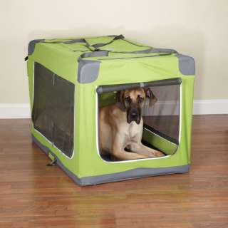 GUARDIAN GEAR COLLAPSIBLE SOFT DOG CRATE GREEN XL NEW