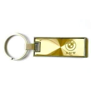 BMW Rectangle Key Chain Gold