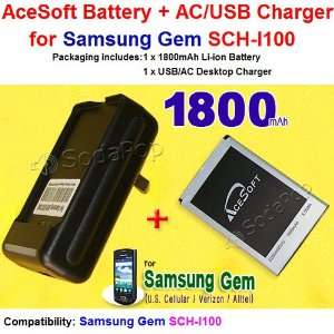 New 1800mAh High Quality Replacement Samsung Gem Battery