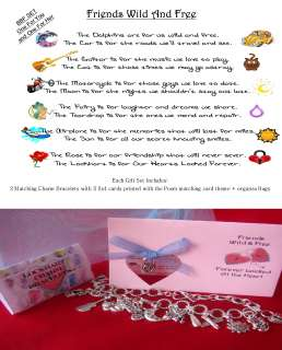 Silver Friendship Poem Best Friends Charms Bracelets