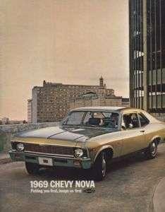 1969 Chevrolet Chevy Nova SS Sales Brochure Book