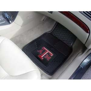 Custom Made   8767   Texas A&M Heavy Duty 2 Piece Vinyl Car Mats 18