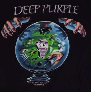 DEEP PURPLE Slaves And Masters Tour 1990 T Shirt(XL)Pre owned Concert